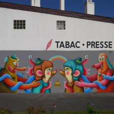 Wall painting – Biarritz – June 2012