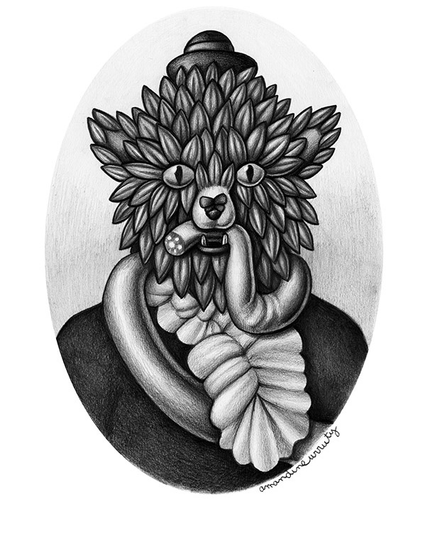 Amandine Urruty - Ovale Portrait
