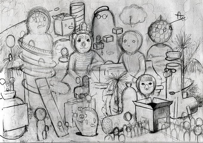 Amandine Urruty - Family Portrait - Process #1
