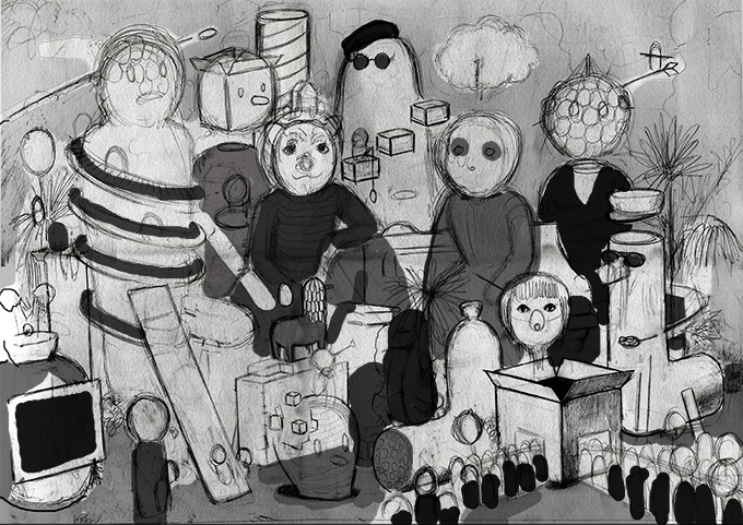 Amandine Urruty - Family Portrait - Process #2
