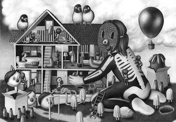 Amandine Urruty - Dollhouse Triptych
