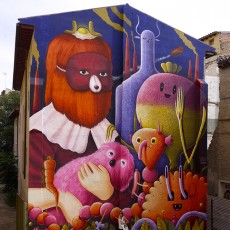 Asalto – Zaragoza – Wall painting process