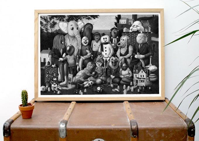 Amandine Urruty - Family Portrait II - Print