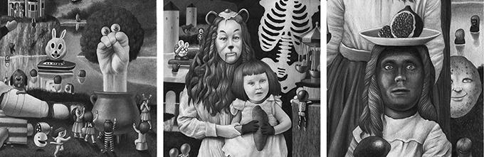 Amandine Urruty - 3 Artist Show - Corey Helford Gallery