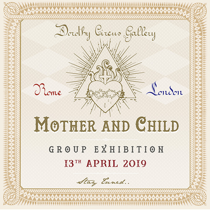 Amandine Urruty - Dorothy Circus Gallery - Mother and Child Group Show