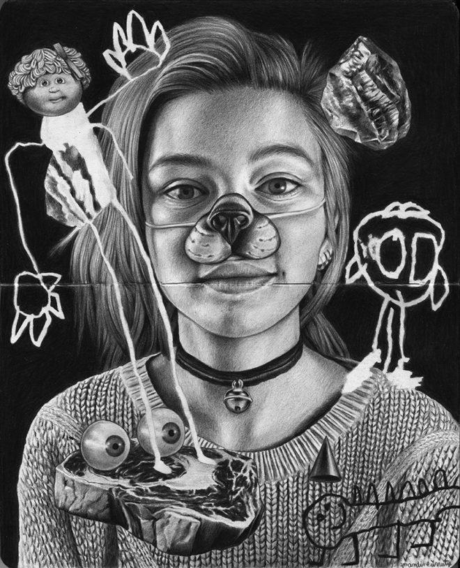 Amandine Urruty - Hortense - Spoke Art - Moleskine Project