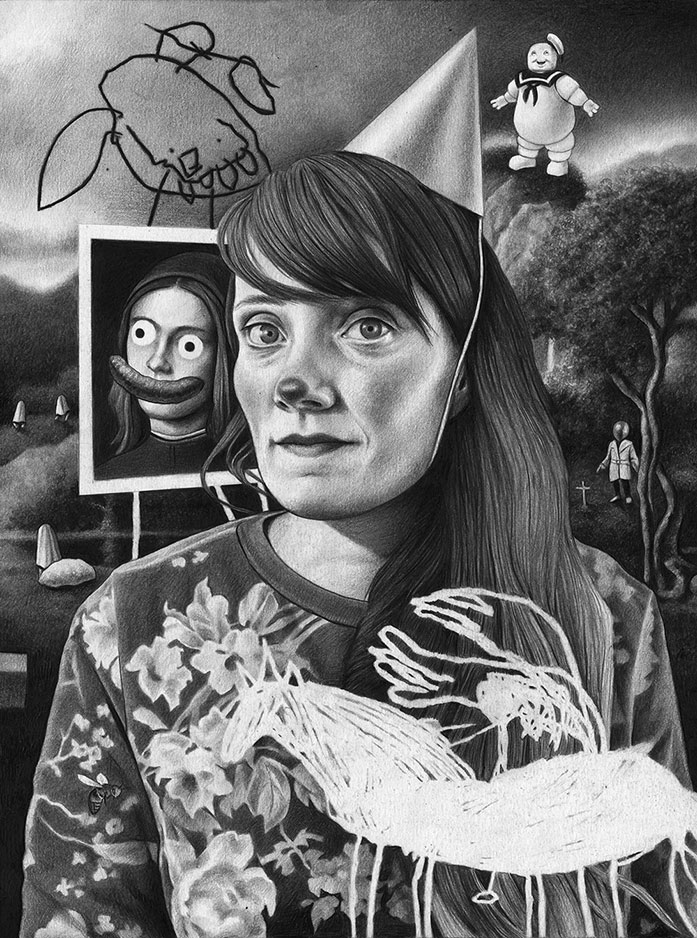 Amandine Urruty - Self Portrait As A Clown